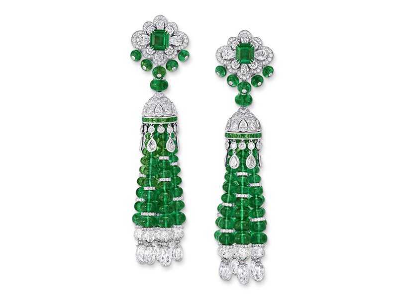 graff emerald earrings