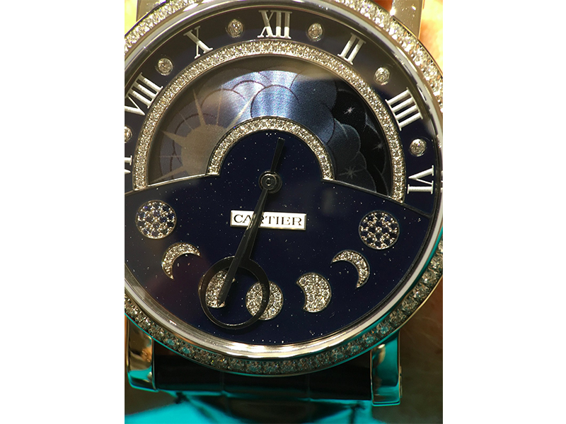 Cartier watch phase de lune