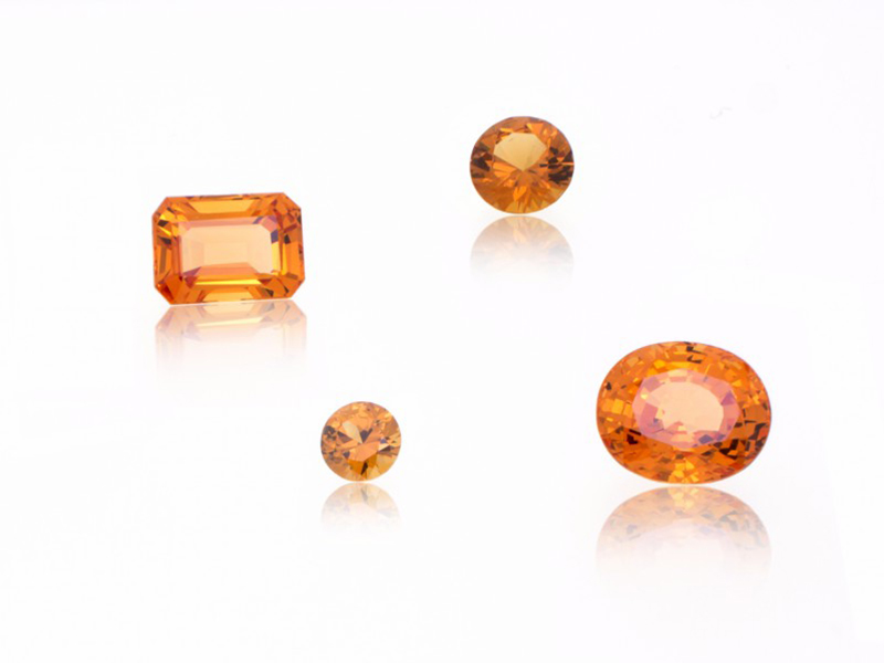 Spessartites Stones orange