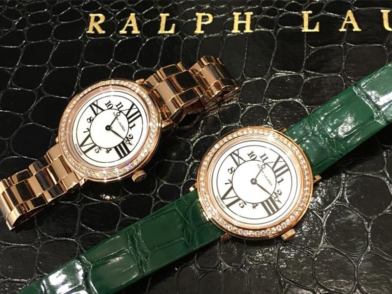 Ralph Lauren The RL888 Collection - 32 mm rose gold diamond