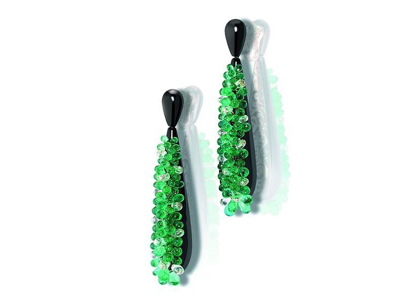 De Grisogono Gocce Earrings - set with briolette cut emeralds