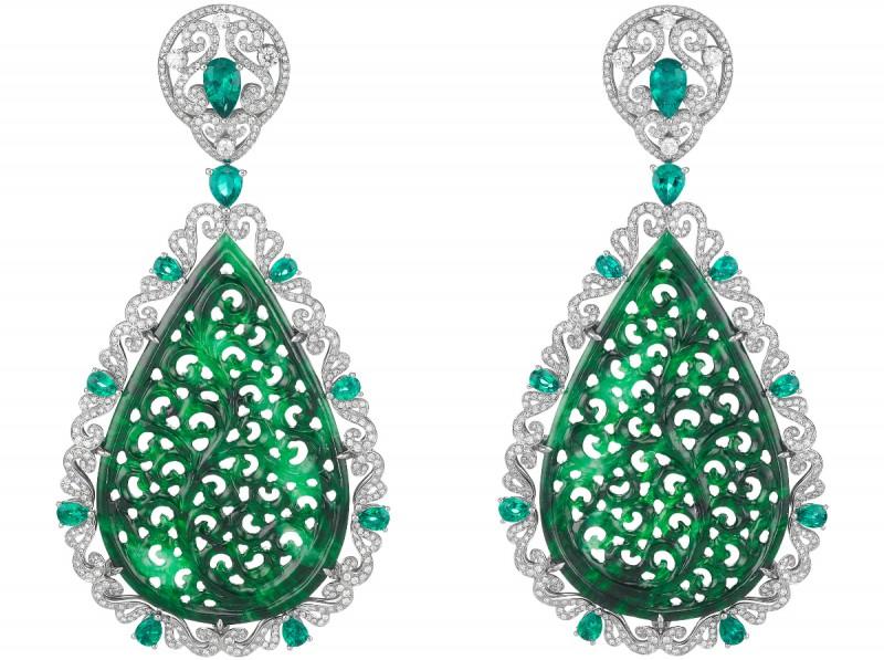 Chopard Jadeite and diamond earrings