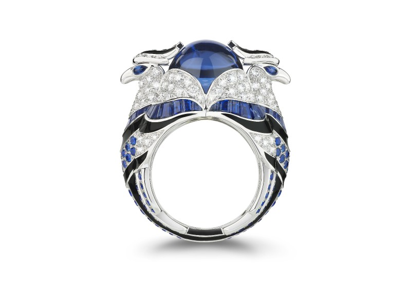 Boucheron Animaux Collection - Chinha Ring set with tanzanite, sapphires and diamonds