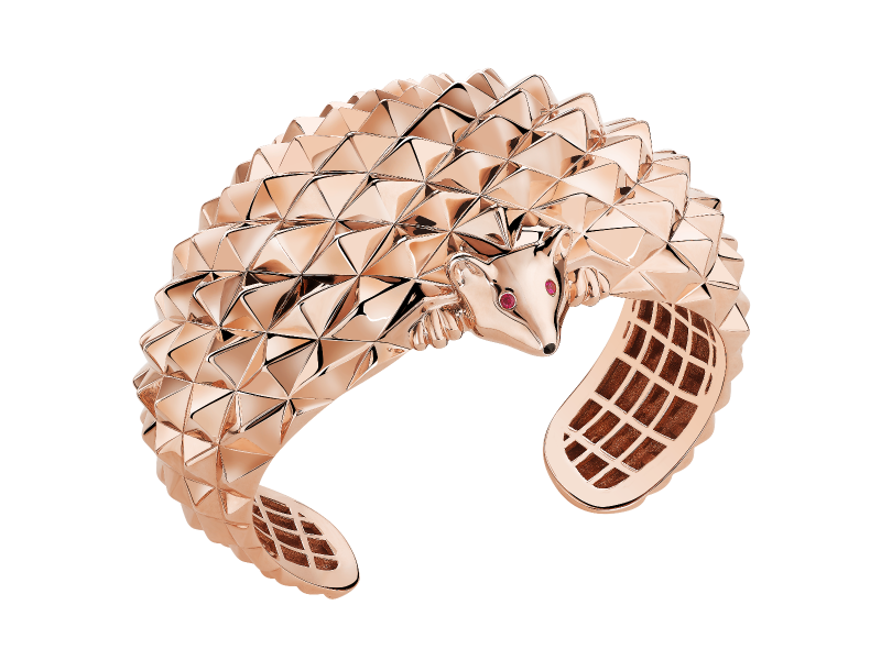 Boucheron Animaux Collection - Herrisson Cuff in red gold