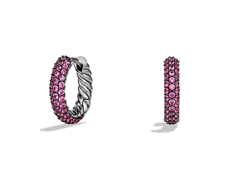 David Yurman These earrings are mounted on silver with pink sapphires, ~ USD$ 1'050