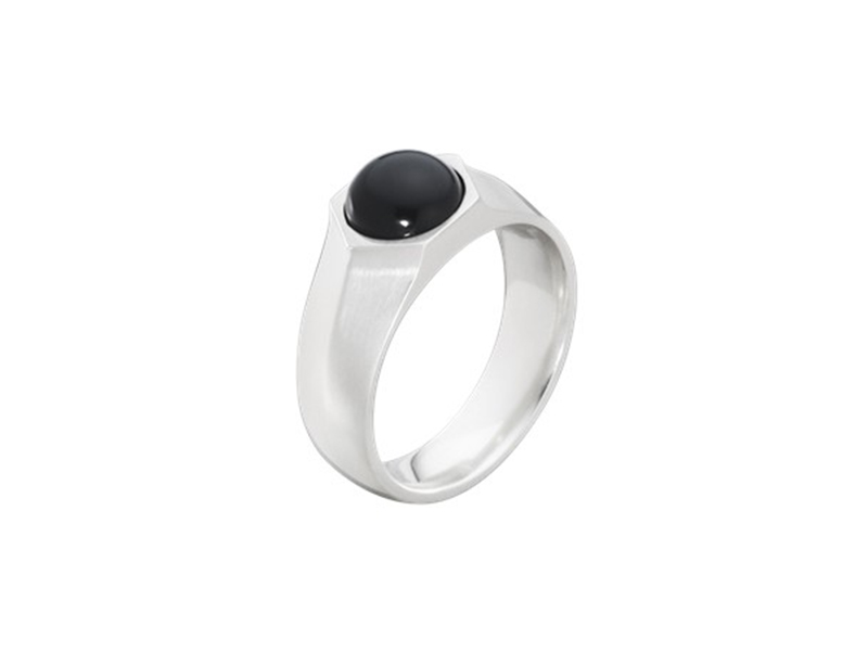 Georg Jensen From Art decoring collection - Sterling silver with black agate, ~ 208 Euros