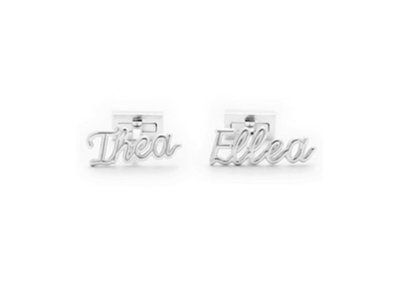 Thea Jewelry Personalised Cufflinks mounted on white gold, ~ 1'500 Euros