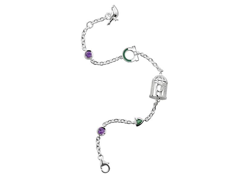 Daniela Villegas x Salvatore Ferragamo bracelet bird