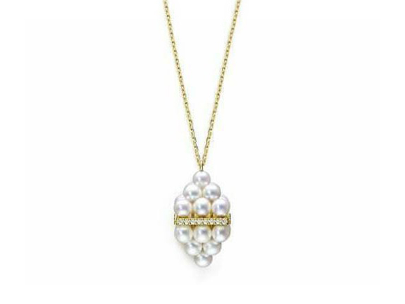 Melanie Georgacopoulos From M/G Tasaki collection - Pyramid pearl pendant mounted on 18ct yellow gold