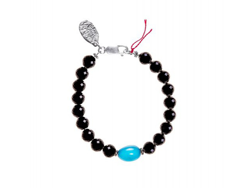 Aaron Jah Stone This bracelet mounted on black tourmaline and turquoise is available at the Pop up - CHF 425