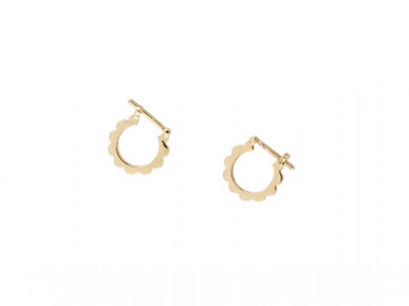 Aude Lechere These earrings from Gourmande collection mounted on yellow gold are available at the Pop Up - CHF 775