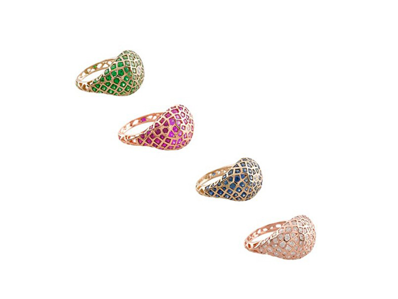 Aude Lechere All of these beautiful colors (tsavorite, pink sapphire, blue sapphire,diamonds) are waiting for you at the Pop Up - starting at CHF 4'865