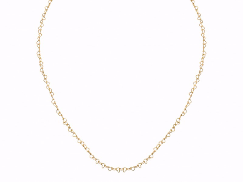 "Poiray This necklace from ""Coeur"" collection mounted on yellow gold is available at the Pop Up - CHF 940"