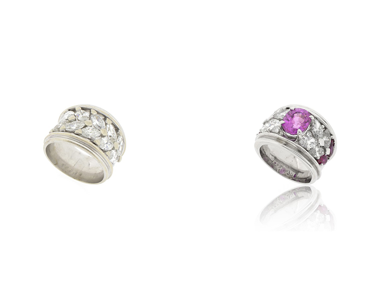 Ring bengems before after diamonds white gold