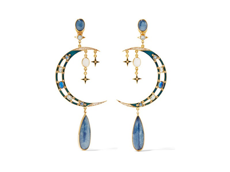 Persosi Papi Gold-plated multi-stone earrings ~ 1'101 Euros
