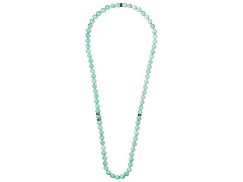 Carolina Bucci Recharmed rhodium-plated with amazonite and diamonds ~ 1'512 Euros