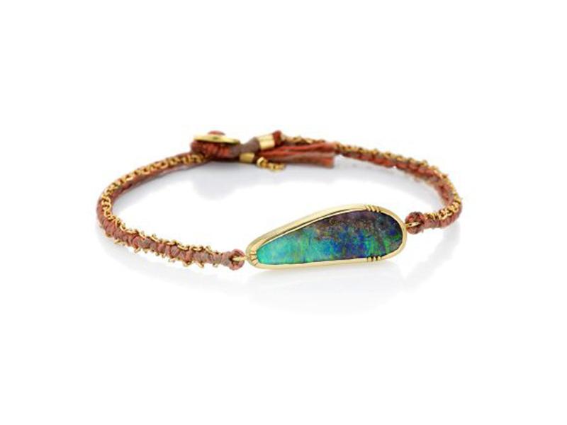 Brooke Gregson Boulder opal ellipse silk gold bracelet ~ GBP£ 1'890