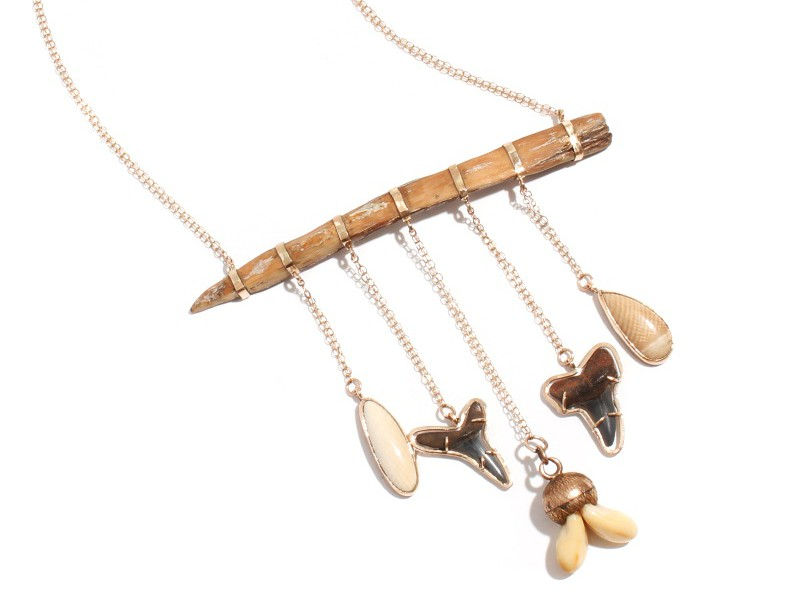Melissa Joy Manning Petrified wood and fossil necklace ~ USD$ 3'460