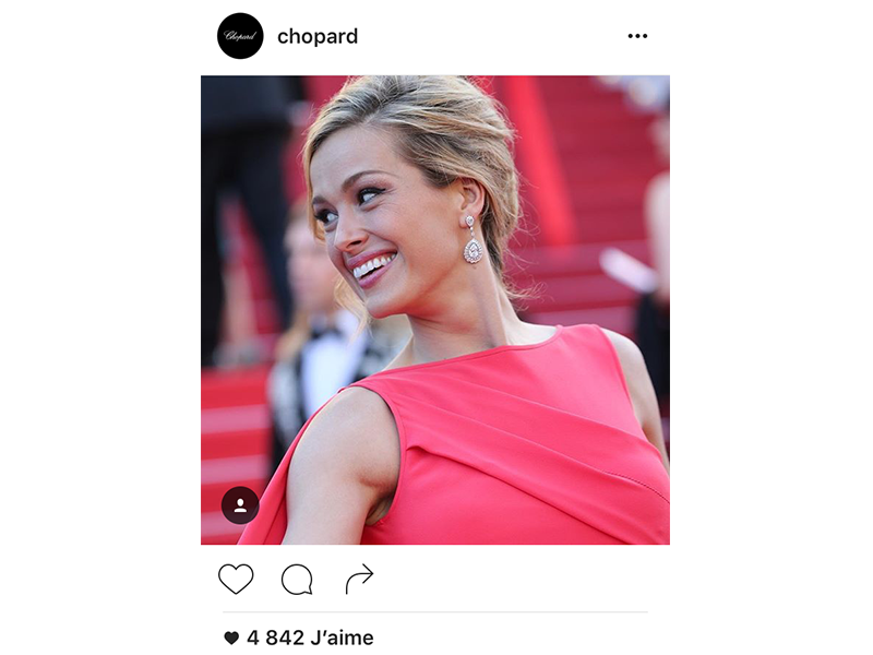 Chopard Petra Nemcova wore a pair of earrings from the Red Carpet Collection along with a bracelet and a ring from the Haute Joaillerie Collection.