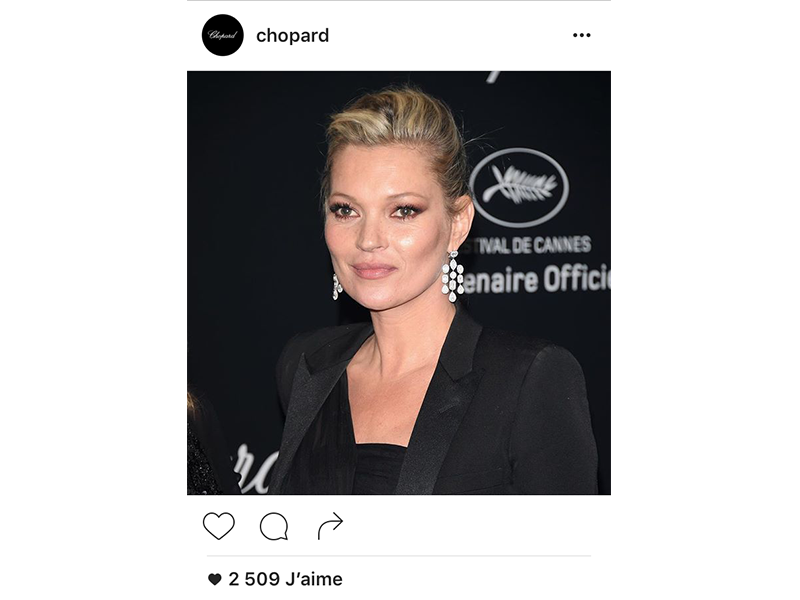 Chopard Kate Moss wore Chopard earrings.