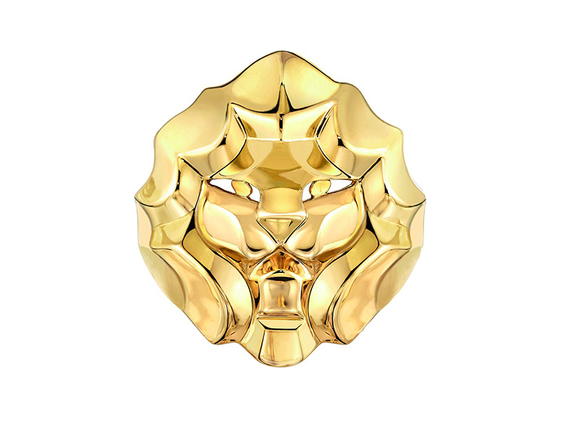 SOUS LE SIGNE DU LION RING LION RING IN 18K YELLOW GOLD Chanel jewelry