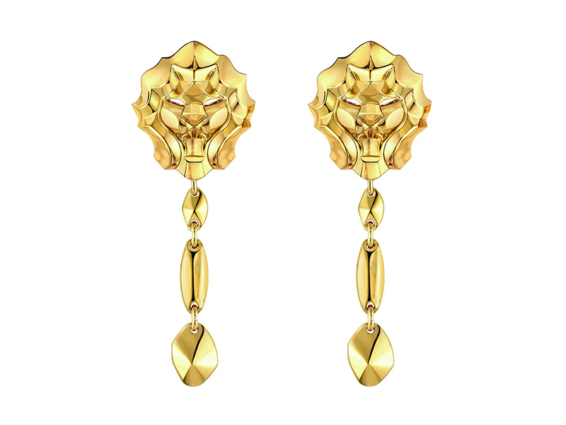 SOUS LE SIGNE DU LION RING LION earrings yellow gold