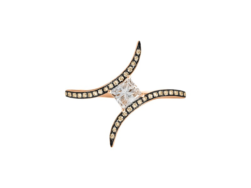 Christina Debs This princess ring with brown diamonds and white gold from Diamond Tattoo Collection is available at the Pop up