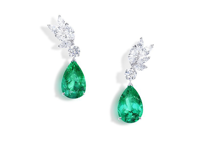 Piaget Sunny Side of Life collection - Earrings set with diamonds and emeralds