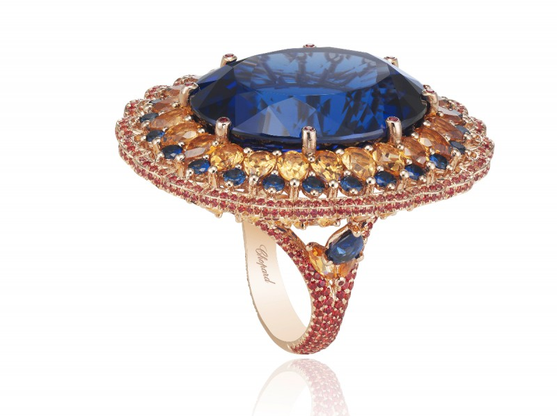 Chopard Temptation sapphire ring