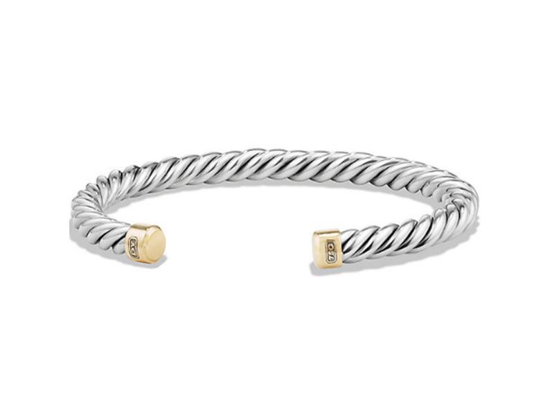 David Yurman Bracelet mounted on silver with yellow gold, ~ USD$ 595