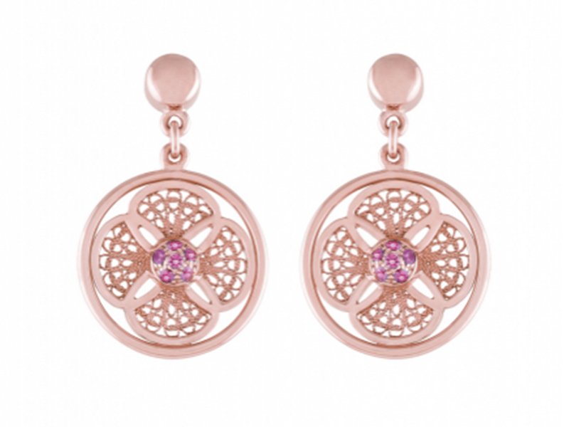 Eleuterio Earrings blossom mounted on rose gold is available at the Pop Up, CHF 1'350