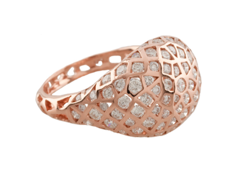 Aude Lechere From Oursin collection - This ring paved with white diamonds is available at the Pop Up - CHF 14'805