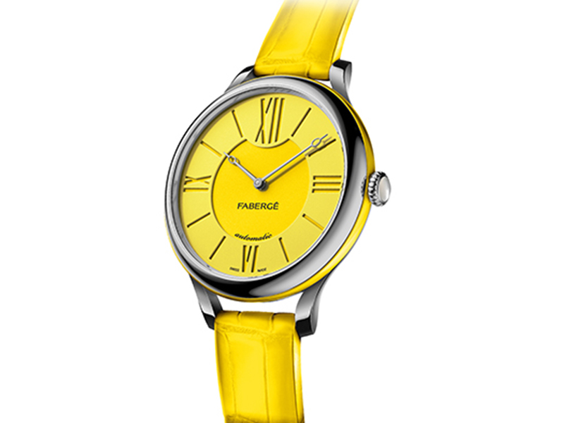 Lady Fabergé watch yellow