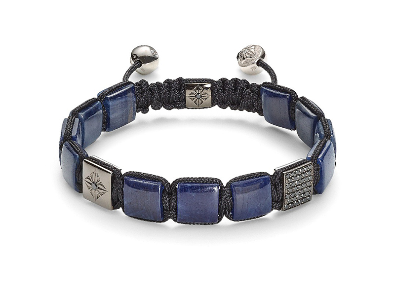 Shamballa Lock bracelet collection - Black diamonds with blue sapphires