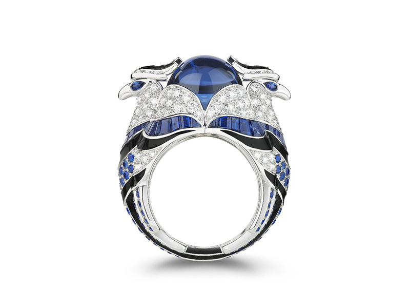 Boucheron From Chinha the eagle collection - Tanzanite, sapphires and diamonds