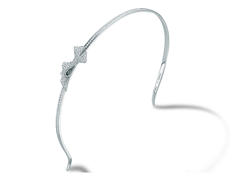 Garrard From Bow collection, a white gold headband set with white diamonds