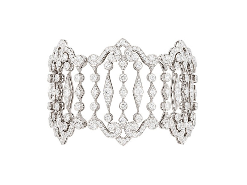 Garrard From Albemarle collection, a white gold bracelet set with white diamonds