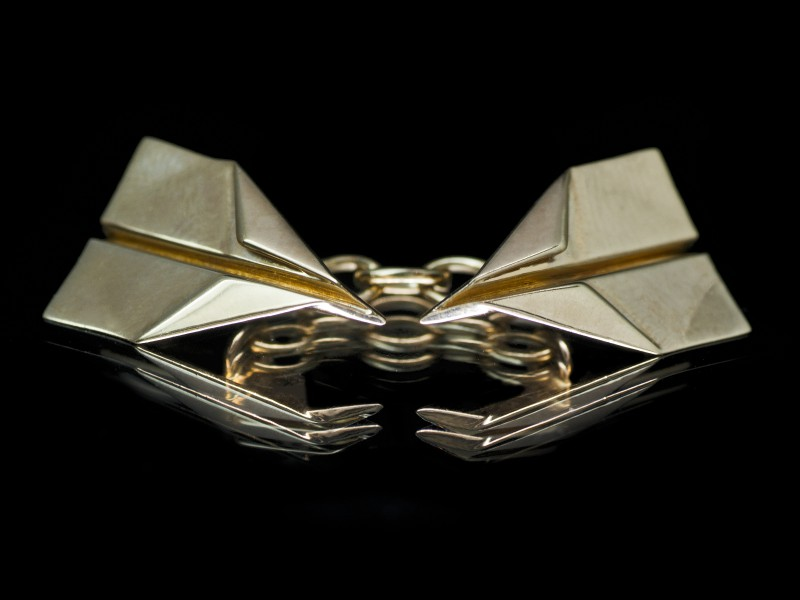 Guy & Max 3D printed jewelry yellow gold