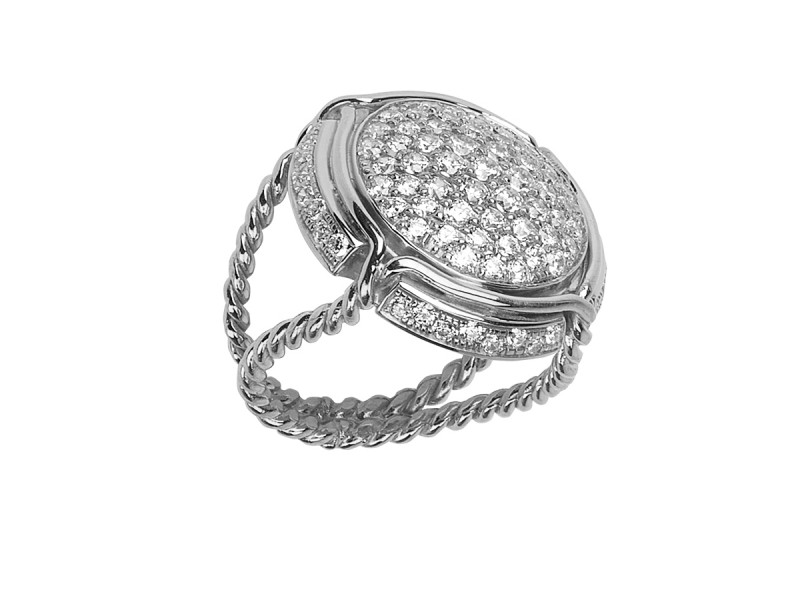 Virginie Carpentier Champagne ring mounted on white gold with 87 white diamonds ~ 5'590 Euros