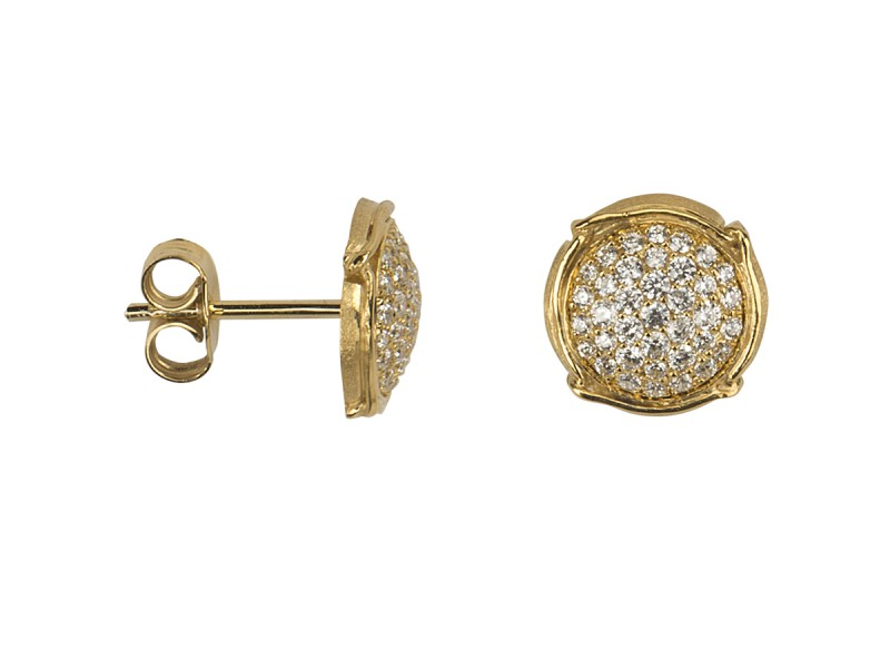 Virginie Carpentier Champagne earrings mounted on black gold with 37 white diamonds ~2'390 Euros