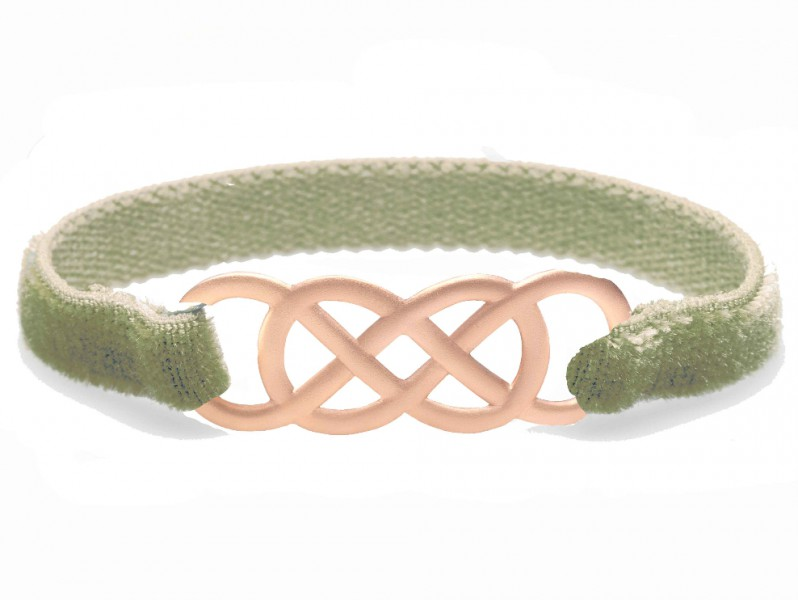 Infinity by Victoria Ibiza pink gold - Khaki Velvet is available at the Pop Up, ~ CHF 300