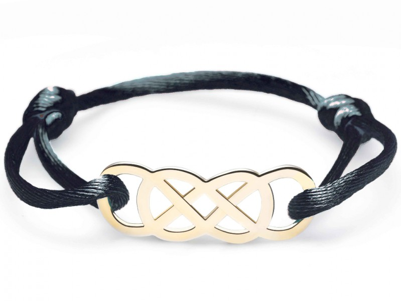 Infinity by Victoria Ibiza yellow gold - Black is available at the Pop Up, ~ CHF 280