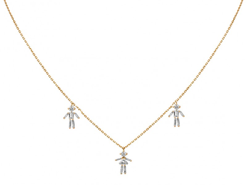 Little Ones This necklace mounted on yellow gold can be ordered at the Pop Up - CHF 4'550