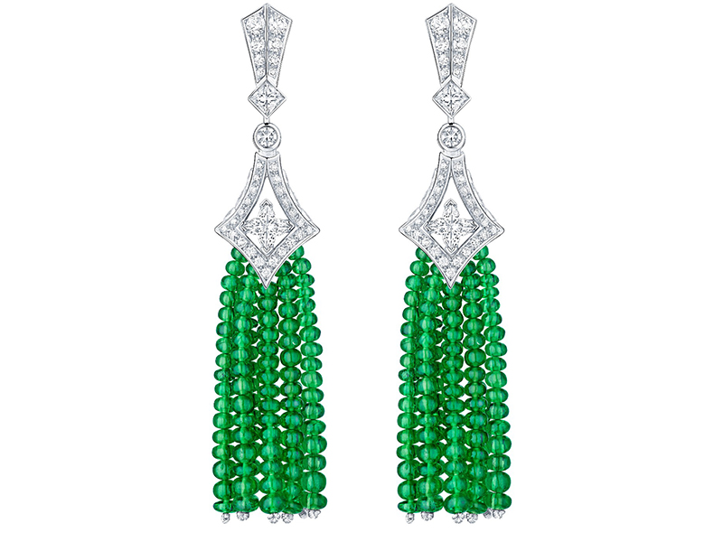 Louis Vuitton Acte V The escape collection beau rivage earrings tsavorites