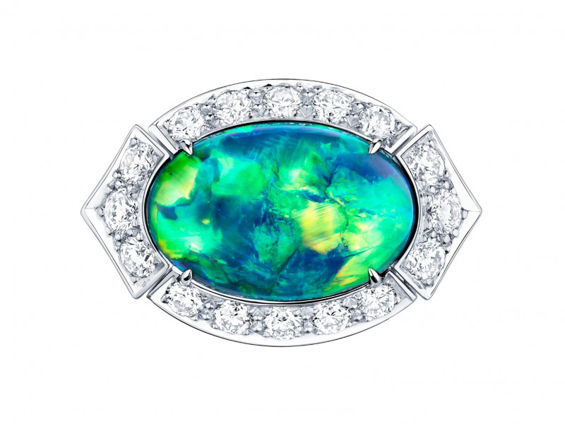 Louis Vuitton Acte V The escape collection ring australian black opal