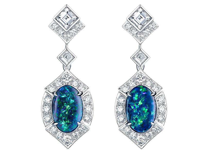 Louis Vuitton Acte V The escape collection earrings australian black opal