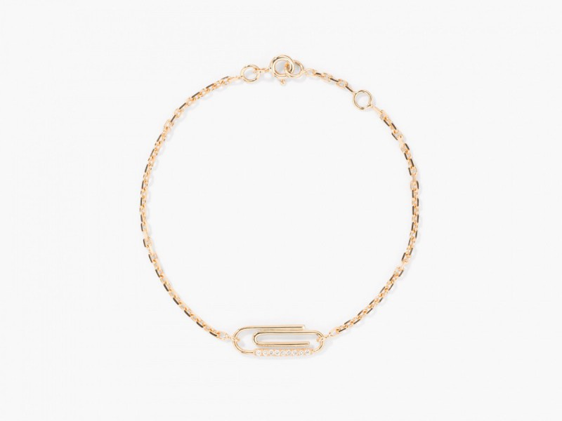 Aurélie Bidermann Paper clip diamonds bracelet, ~ 1'290 Euros
