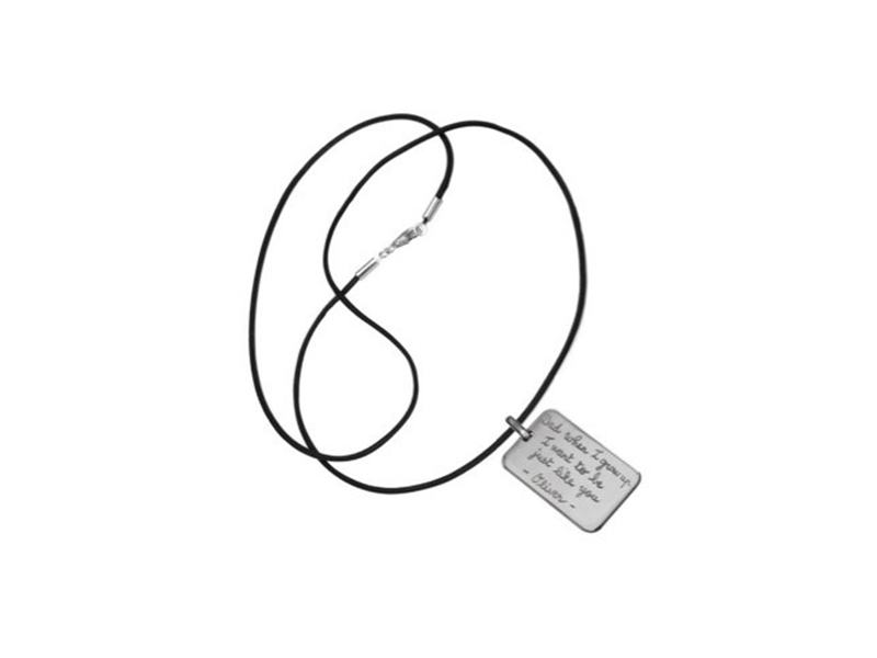 Merci Maman Personalised sterling silver dog tag necklace, ~ GBP£ 49