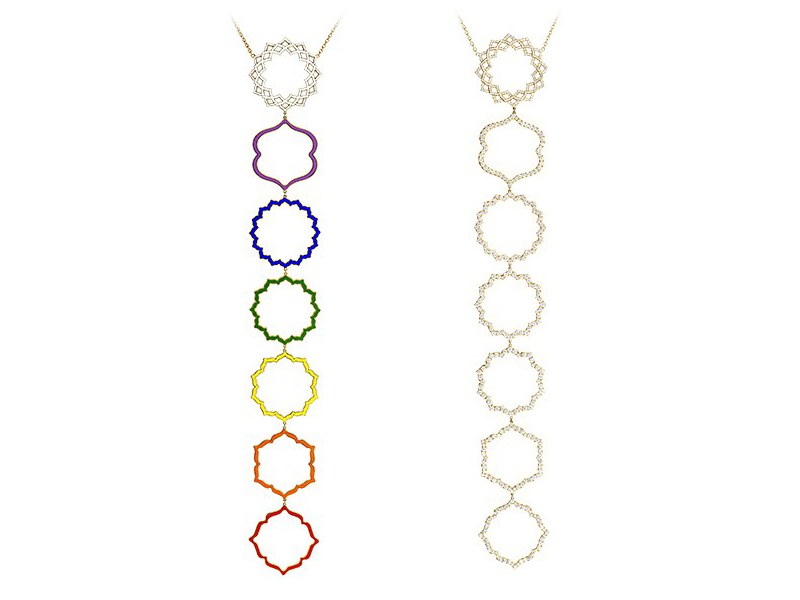 Caspita Chakra Collection pendants
