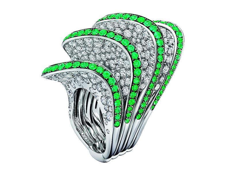 Neon colors De Grisogno green diamonds